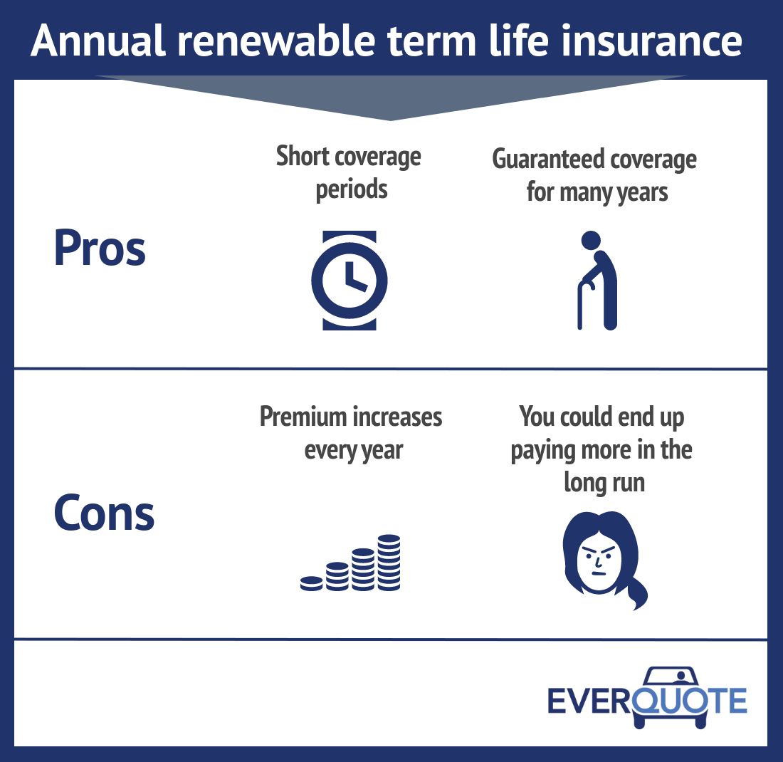 30 Year Term Life Insurance Quote: The Pros And Cons Of Annual Renewable Term Life Insurance