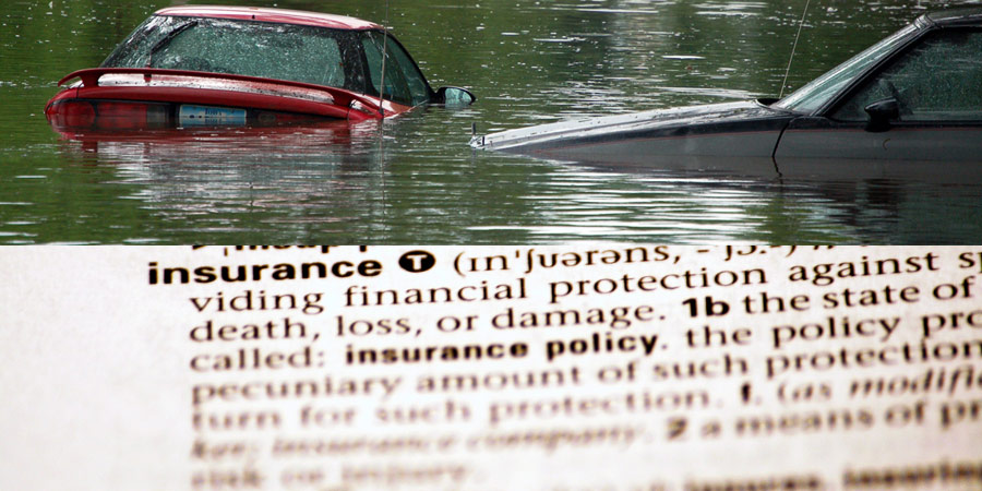 flooded cars, insurance definition