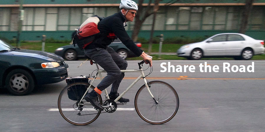 man on bike - share the road