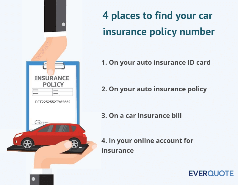 4 places to find your car insurance polcuy number