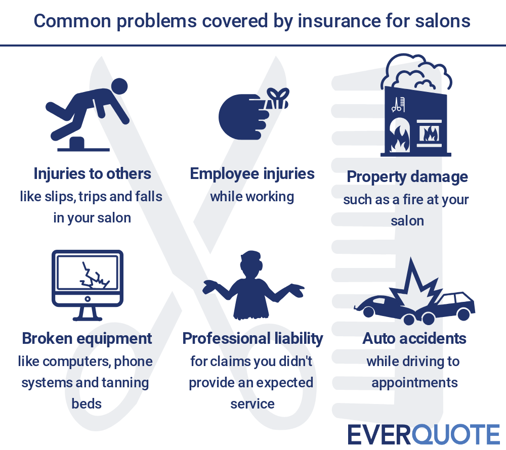 Salon problems covered by insurance