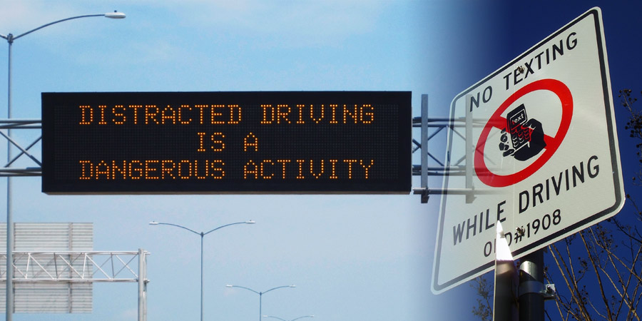 distracted driving is a dangerous activity, no texting while driving