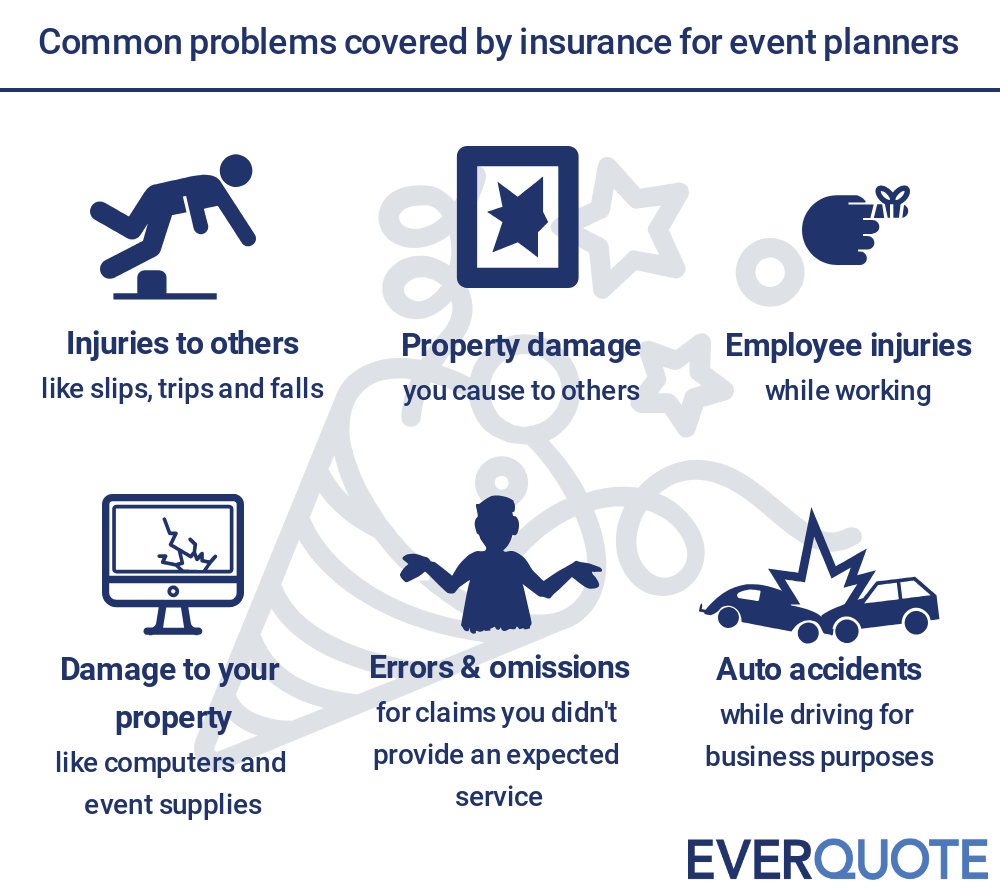 Insurance coverage for event planners