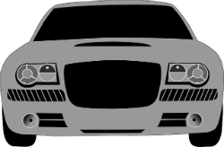frontend view of gray car clipart