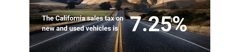 California tax and new and used vehicles