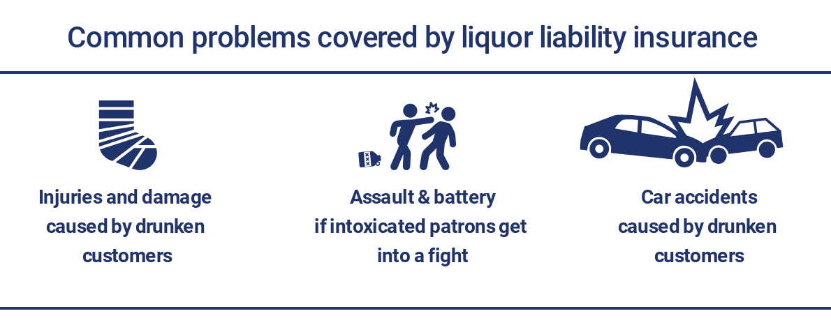 Insurance for common liquor liability problems