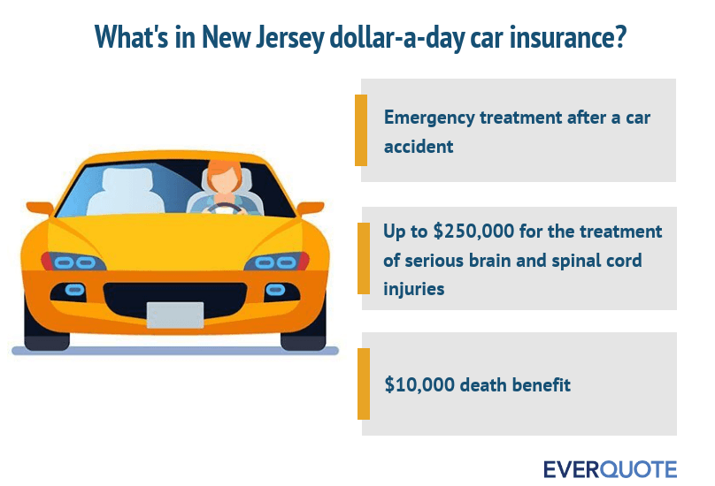 What's included in dollar a day auto insurance