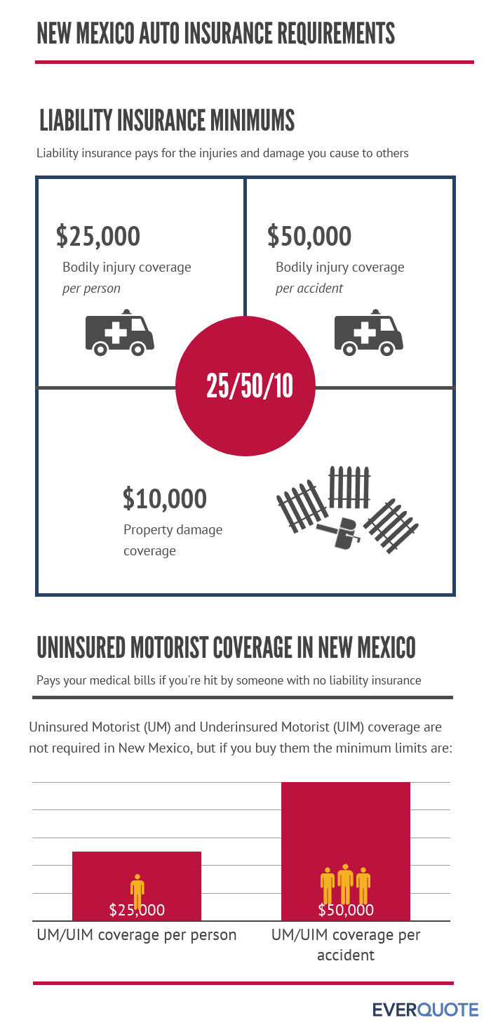 New Mexico required car insurance
