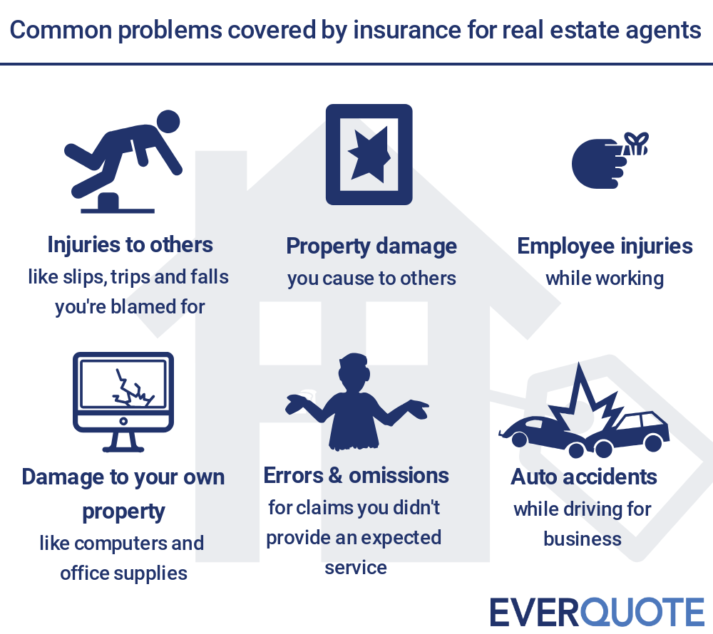 Commom problems solved by insurance for real estate agents