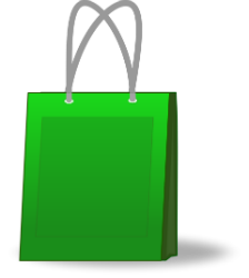 shopping bag green clipart