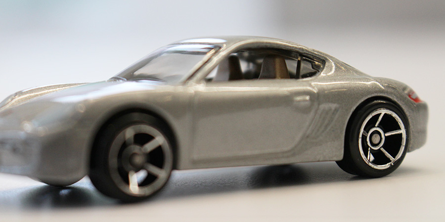silver toy car interior