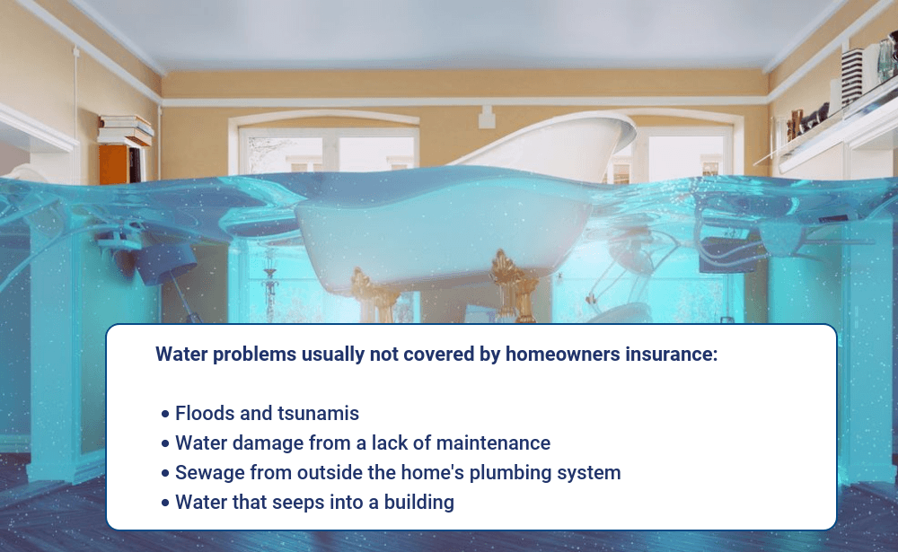 Water damage not covered by homeowners insurance