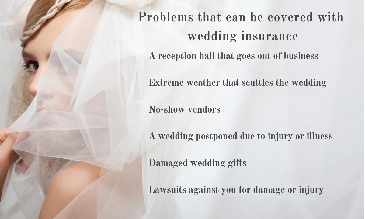 Basics of wedding insurance