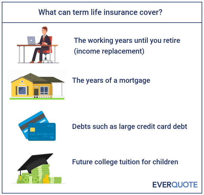What does term life insurance cover?